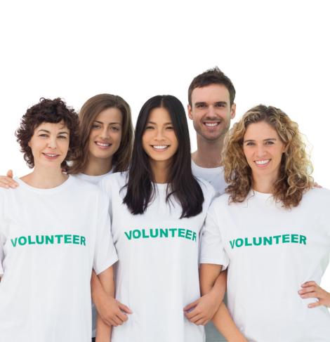 portrait of volunteers